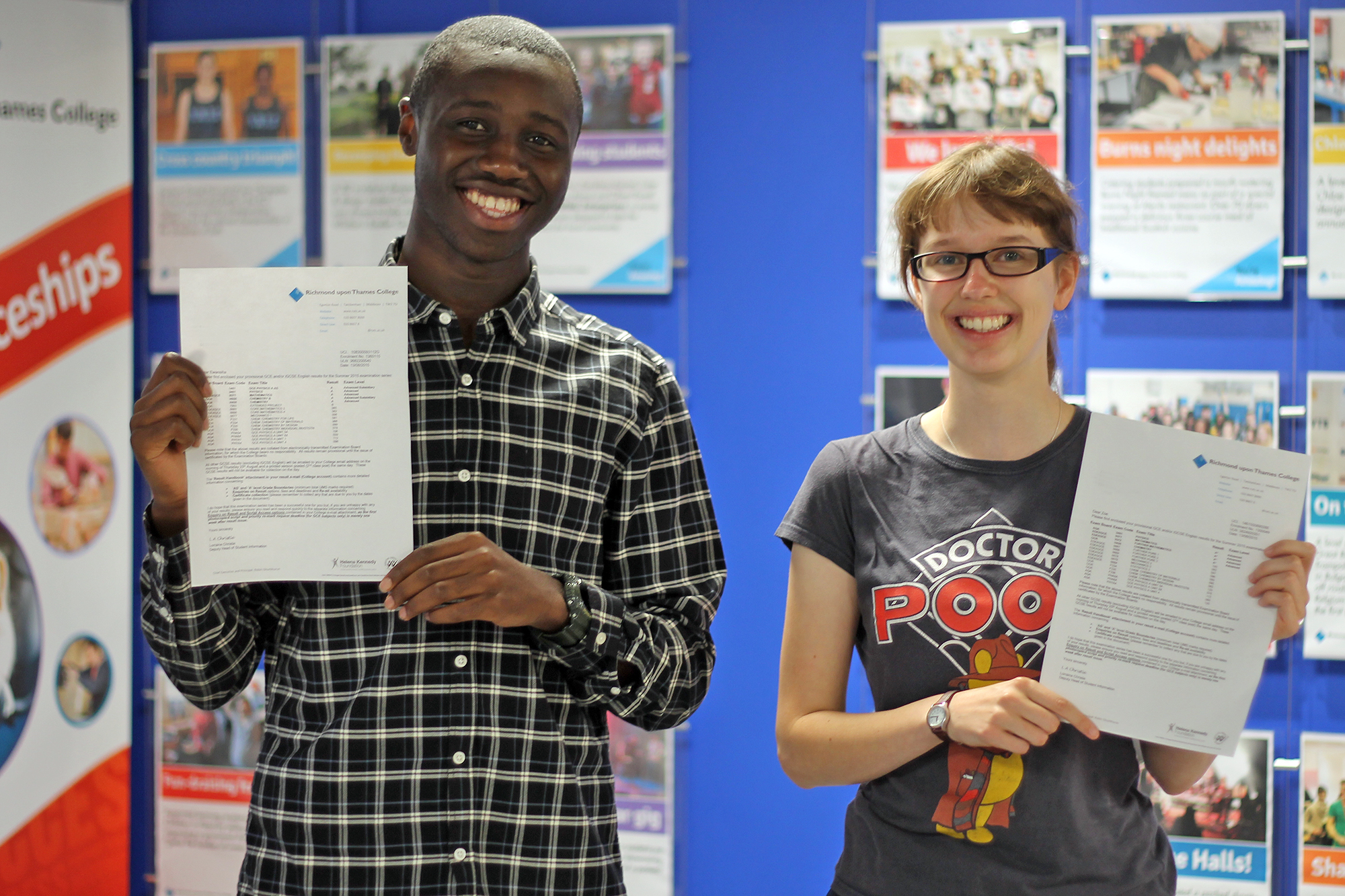 A Level Results excellent for star students at Richmond upon Thames College they will go to their dream universities