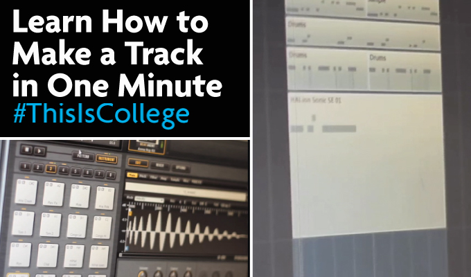 how to cut a track in one minute on the top music course at Richmond upon Thames College in London