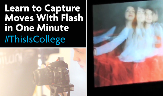learn how to capture movement with flash photography at media a level and btec courses at Richmond upon thames College in London