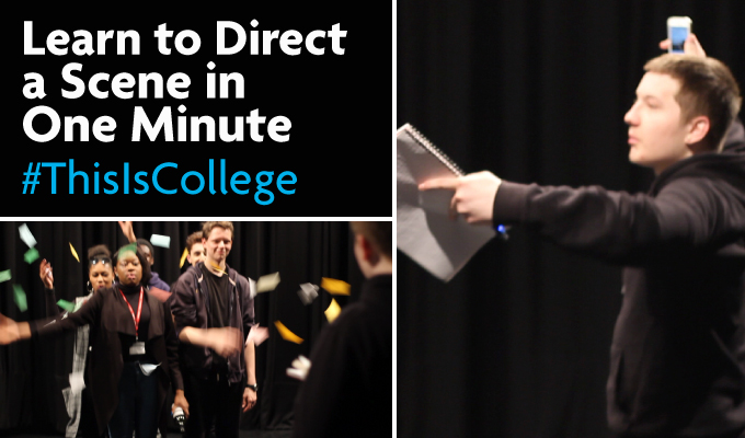 learn to direct a play in one minute in a drama and performing arts class at Richmond upon Thames College in London
