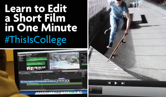 learn to make and edit a short film in one minute at an excellent film and media btec course at Richmond upon Thames College in London