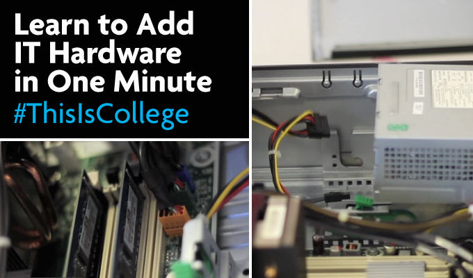 learn to take apart a computer hardware system in One Minute at an IT course in Richmond upon thames college in London