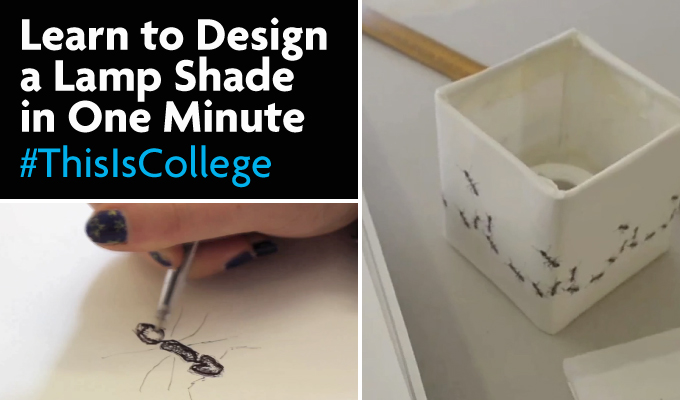 learn how to graphic design patterns on lamp shades on a level courses at Richmond upon Thames College in London