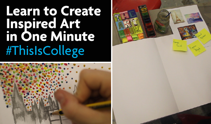 learn to creat inspired fine art in one minute at an a level course at Richmond upon Thames college in London