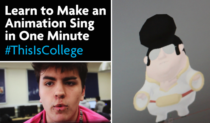 learn to make an animation sing and move mouths at a media course at richmond upon thames college in london