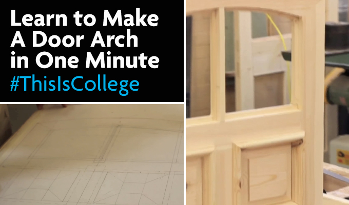 learn to make an arch for a door in carpentry and construction and joinery courses at Richmond upon THames college in LOndon