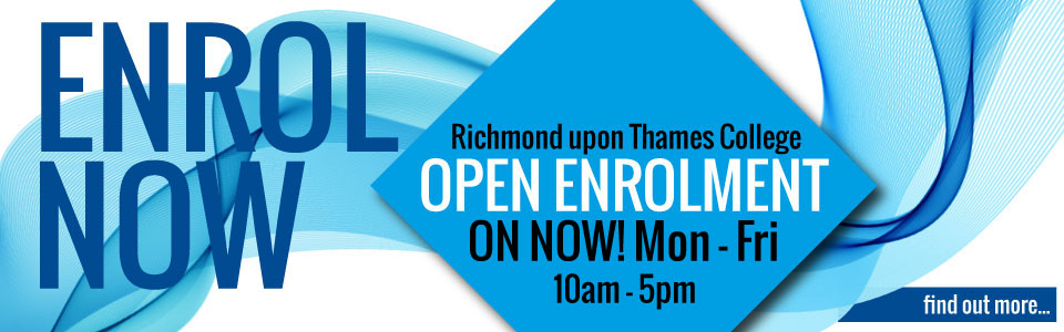 apply and enrol now at a top London Richmond upon Thames College August September enrolment on today 10