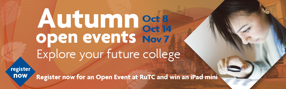 autumn open events at Richmond upon Thames college apply and explore a top college