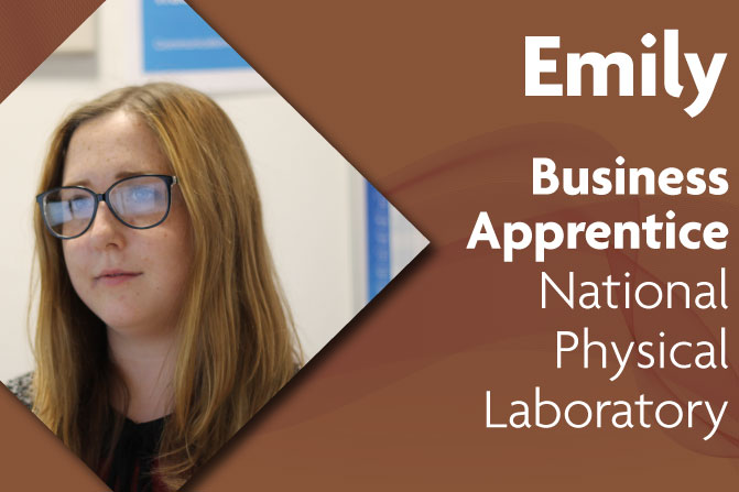 business administration apprenticeship at National Physical Laboratory and Richmond upon Thames College in London emily