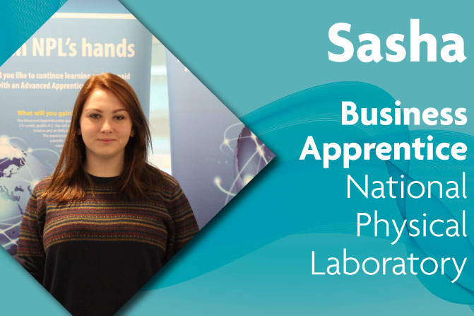 business administration apprenticeship at National Physical Laboratory and Richmond upon Thames College in London sasha