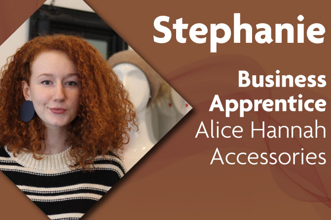 business apprentice at Alice Hannah Accessories and Richmond upon Thames College in London