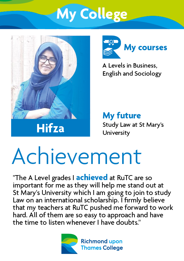What Our Students Say 2019 Social Sciences Hifza