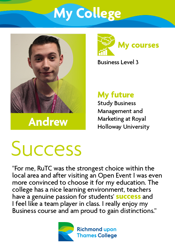 What Our Students Say 2019 Business Andrew