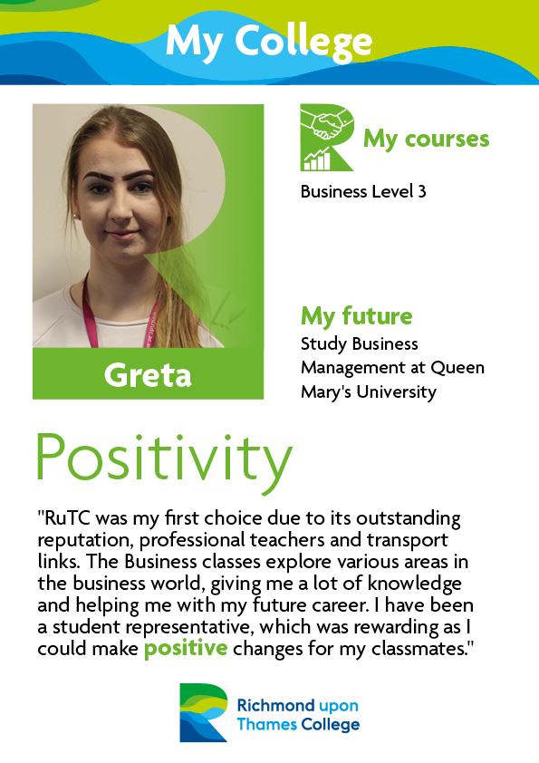 What Our Students Say 2019 Business Greta