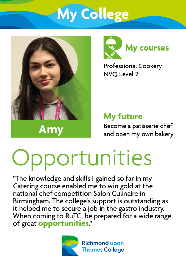 What Our Students Say 2019 Catering Amy
