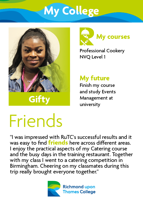 What Our Students Say 2019 Catering Gifty