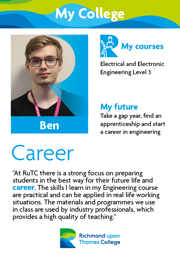What Our Students Say 2019 Engineering Ben