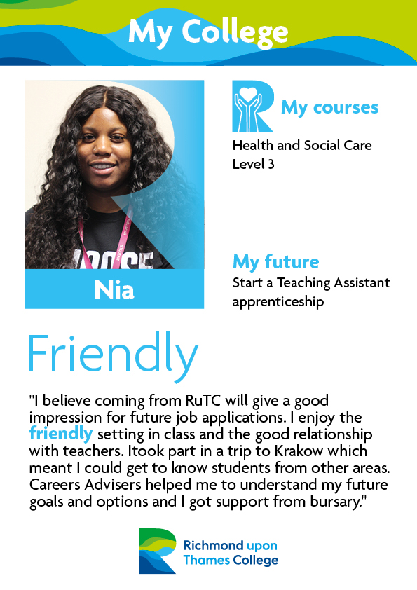 What Our Students Say 2019 Health and Social Nia