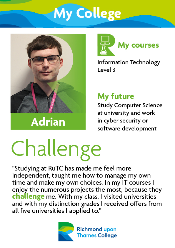 What Our Students Say 2017 Computing Male 2