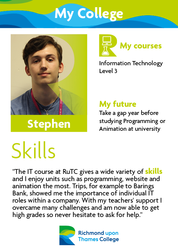 What Our Students Say 2019 Computing Stephen