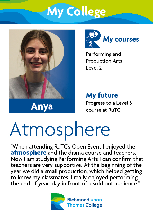 What Our Students Say 2019 Performing Arts Anya