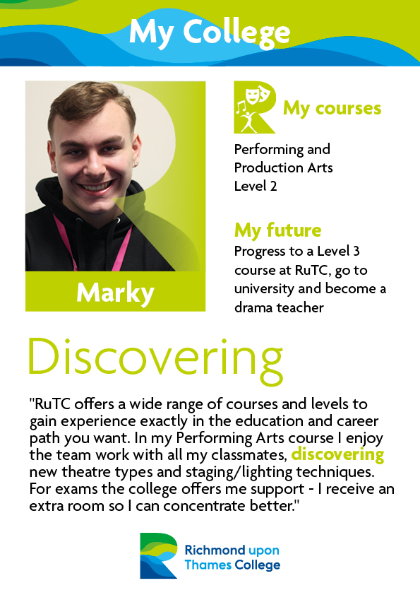 What Our Students Say 2017 Performing Arts Marky