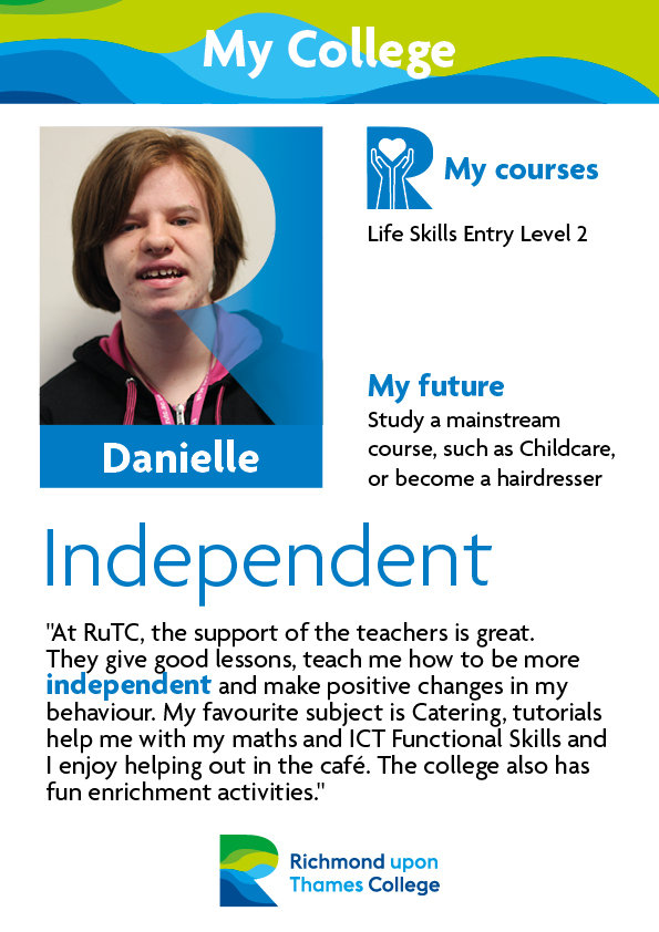 What Our Students Say 2019 Supported Learning Danielle