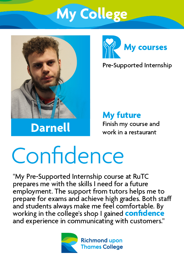 What Our Students Say 2019 Supported Learning Darnell