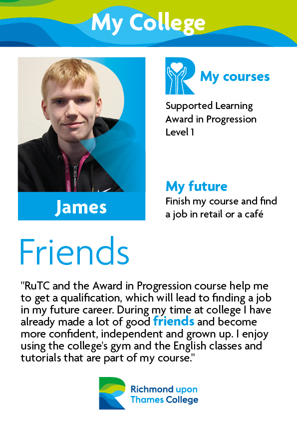 What Our Students Say 2019 Supported Learning James