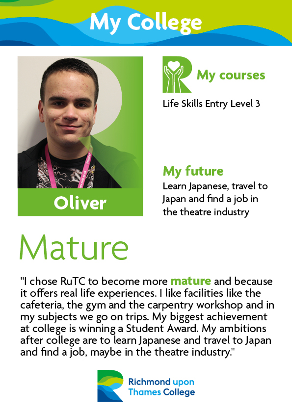 What Our Students Say 2019 Supported Learning Oliver