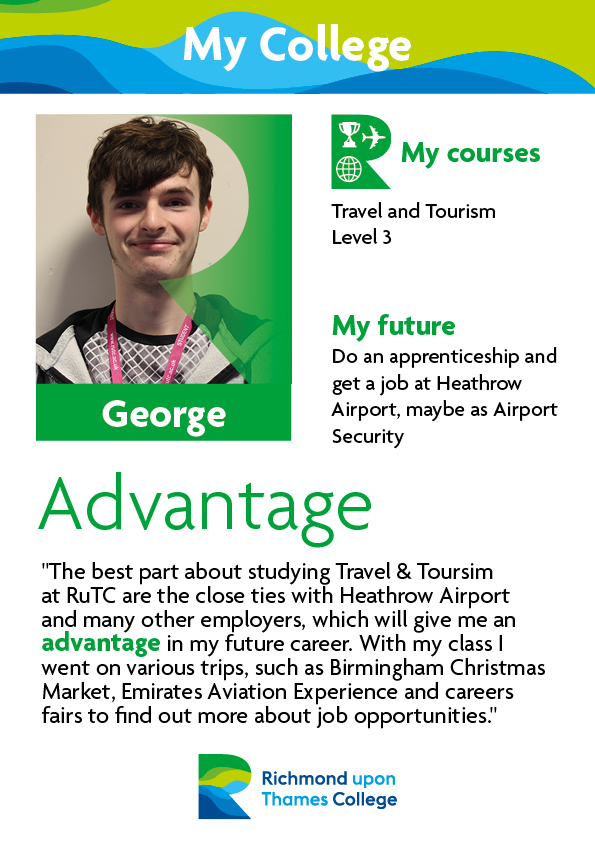 What Our Students Say 2019 Travel and Tourism George