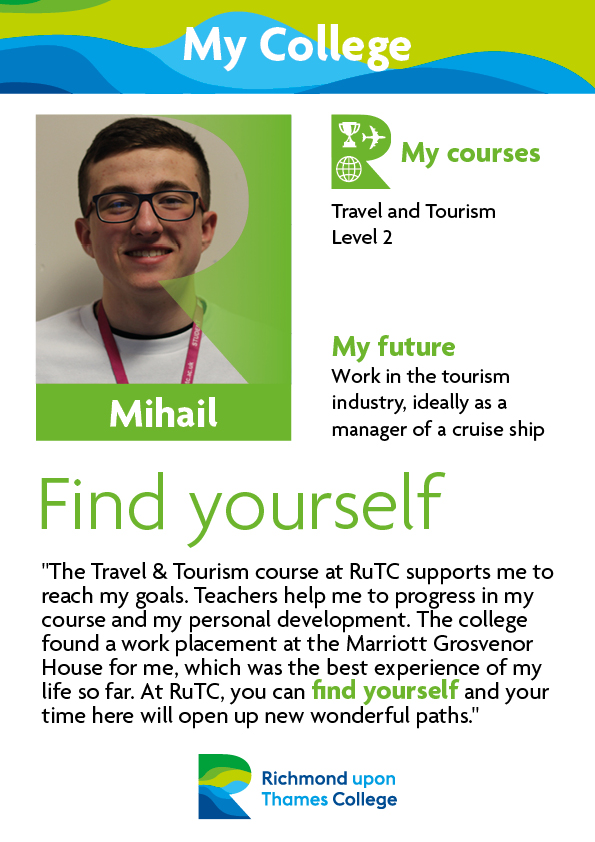 What Our Students Say 2019 Travel and Tourism Milhail