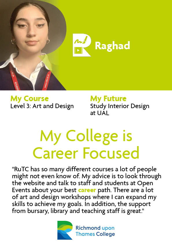 What Our Students Say 2020 Art and Design Raghad