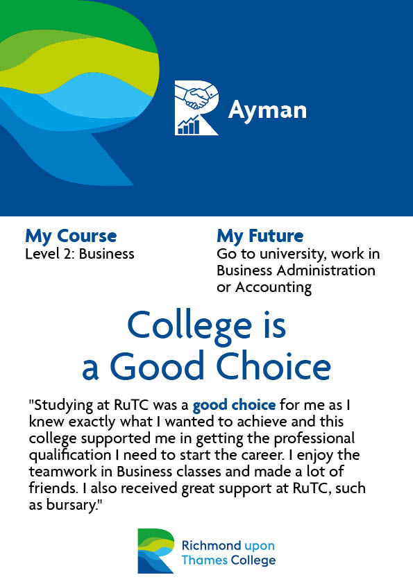 What Our Students Say 2020 Business Ayman