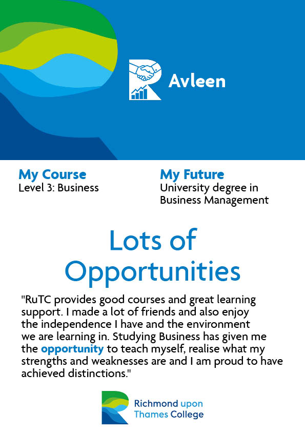 What Our Students Say 2020 Business Avleen