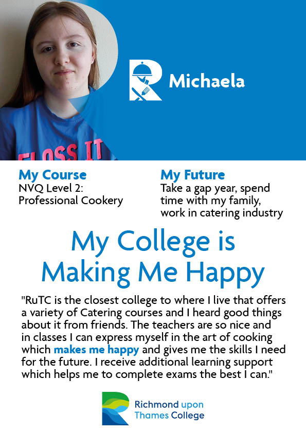 What Our Students Say 2020 Catering Michaela