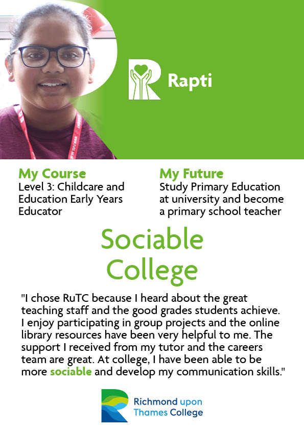 What Our Students Say 2020 Early Years Rapti
