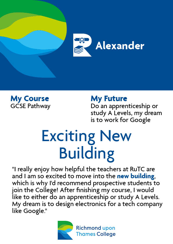 What Our Students Say 2020 GCSE Pathway Alexander