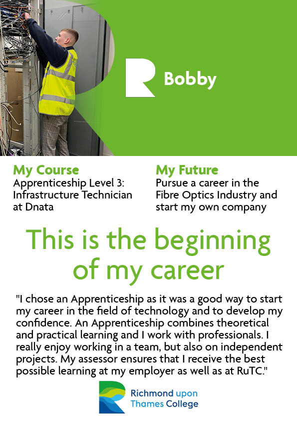 What our Apprentices Say 2020 Computing Bobby