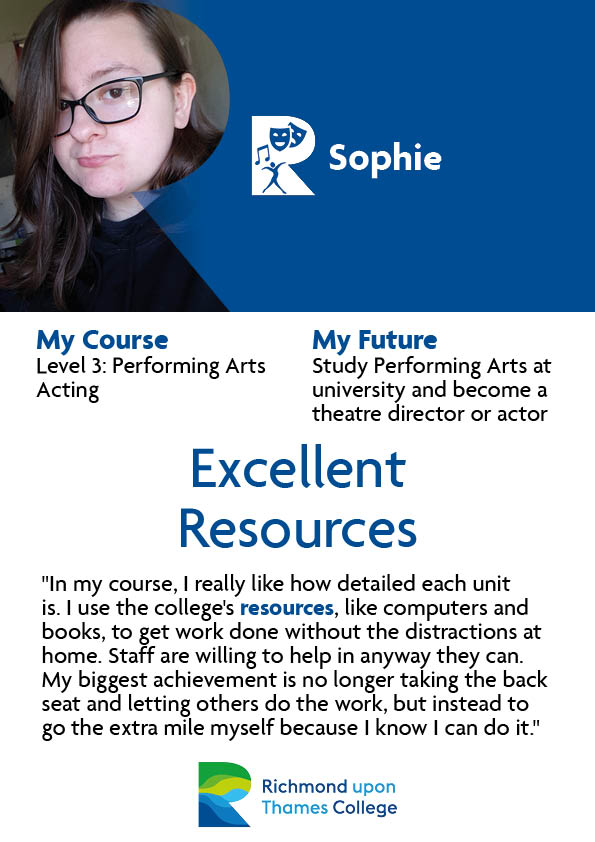 What Our Students Say 2020 Performing Arts Sophie