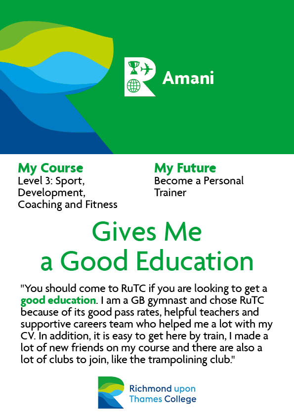 What Our Students Say 2020 Sport and Exercise Amani