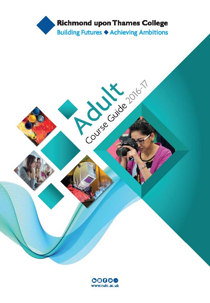 Pages from adult course guide for part and full time courses art design engineering first aid accounting sport Exercise autoCAD and cookery courses in London