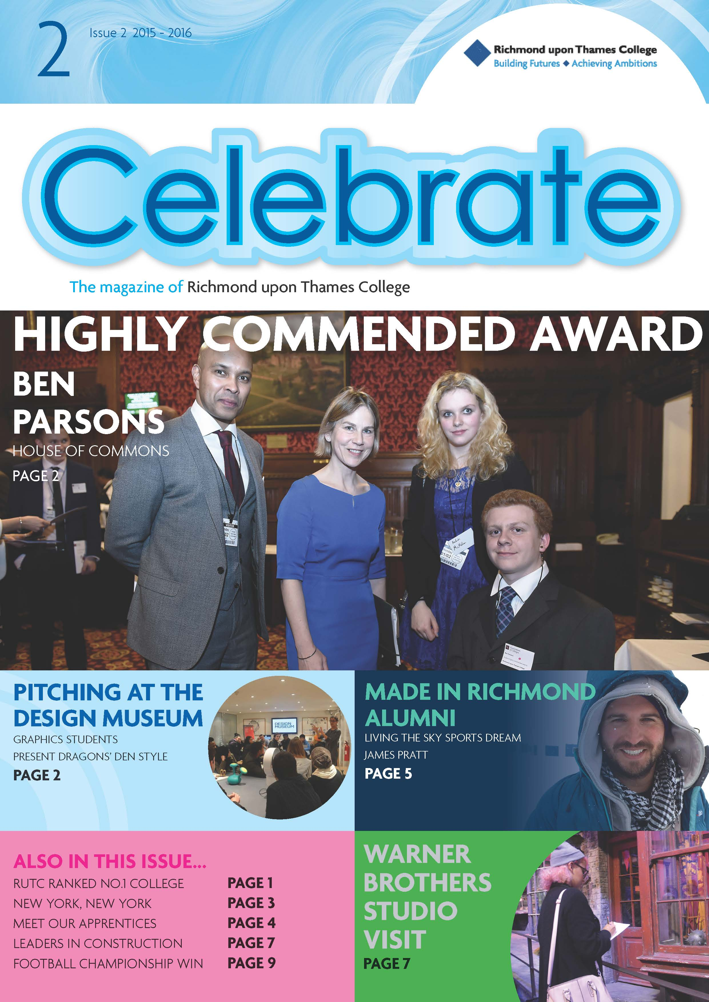 Richmond upon Thames College Magazine Celebrate Issue 2