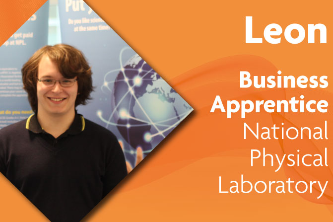 business administration apprenticeship at National Physical Laboratory and Richmond upon Thames College in London leon