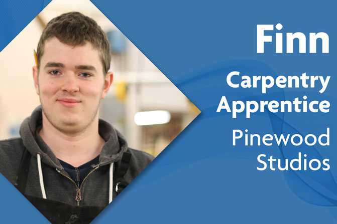 carpentry apprenticeship at Pinewood studios and Richmond upon Thames College in London Finn