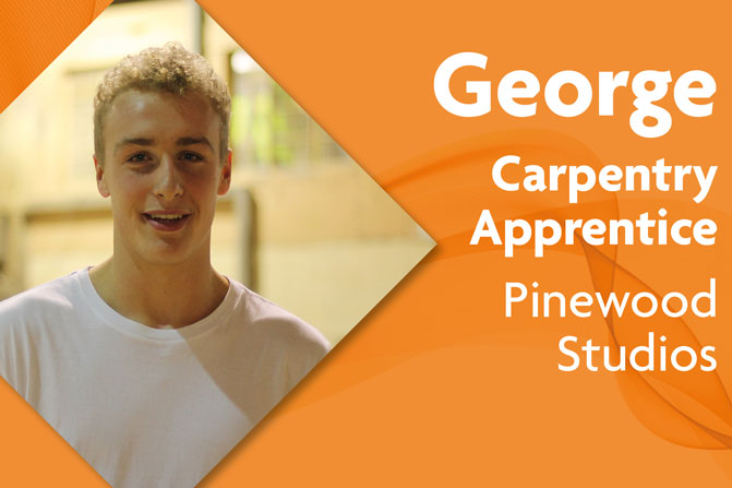 carpentry apprenticeship at Pinewood studios and Richmond upon Thames College in London George