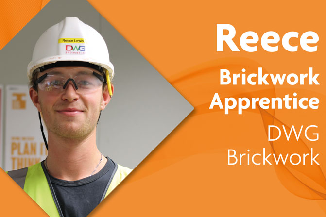 brickwork apprenticeship at DWG Brickwork and Richmond upon Thames College in London Reece