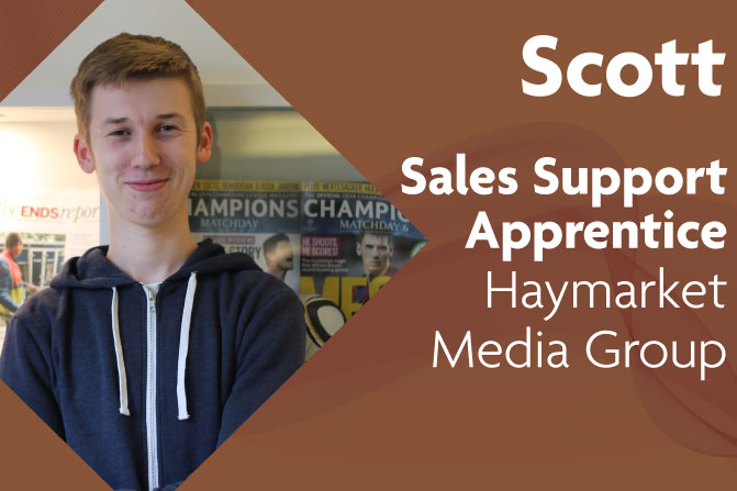 sales support apprenticeships in creative and digital media and business at Haymarket Media Group and Richmond upon Thames College in London