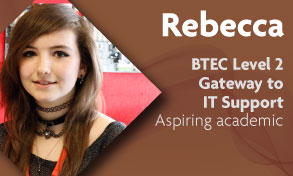 BTEC Level 2 Gateway to IT Support student talks about learning lots thanks to great teaching at Richmond upon Thames College in Twickenham