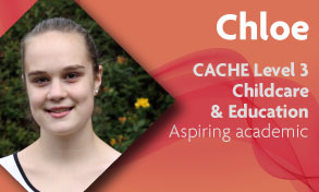 CACHE level 3 childcare and education student wants to work with disabled and special needs children and loves the work placements on her course at Richmond upon Thames College in Twickenham